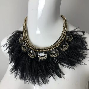 Stella & Dot Harper Necklace Feathers Glam